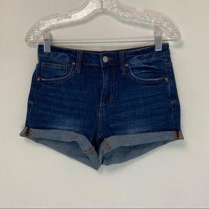 Joe's Jeans Roll Up Janessa Blue Denim Shorts